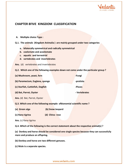Concise Biology Class 9 ICSE Solutions Chapter 8 Five Kingdom Classification part-1