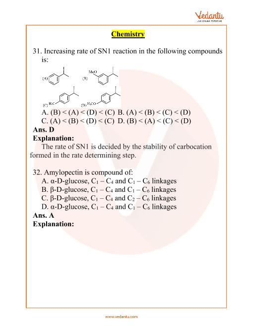JEE Main 10 April 2019 Chemistry Question Paper Morning Shift 1 part-1