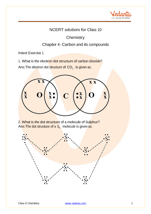 NCERT Solutions for Class 10 Science Chapter 4 Carbon and Its Compounds part-1
