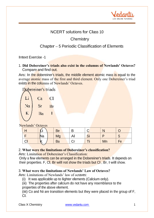 Chapter 5 - Periodic Classification of Elements part-1