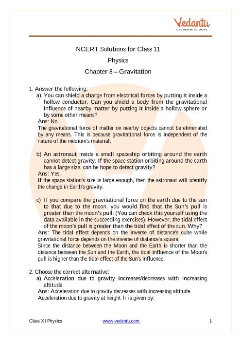 Physics Class 11 Chapter 8 part-1