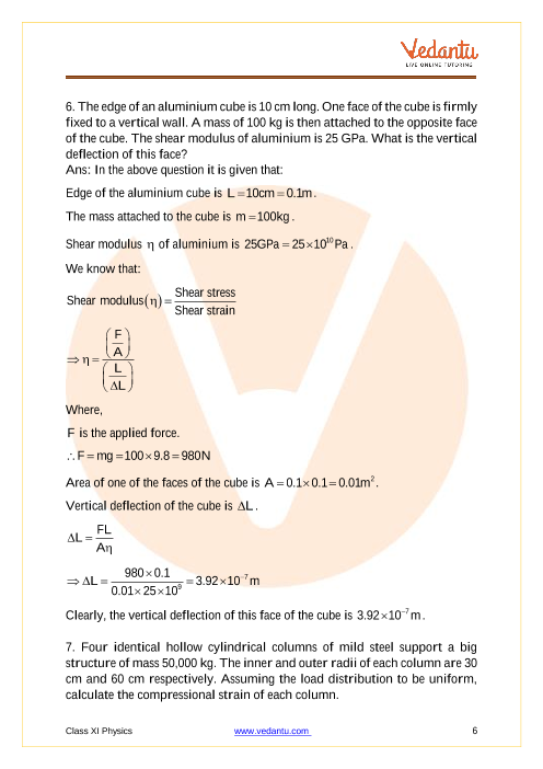 Ncert Solutions For Class 11 Physics Chapter 9 Mechanical