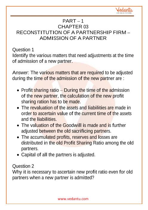 Class 12 Accountancy Part 1 Chapter 3 part-1