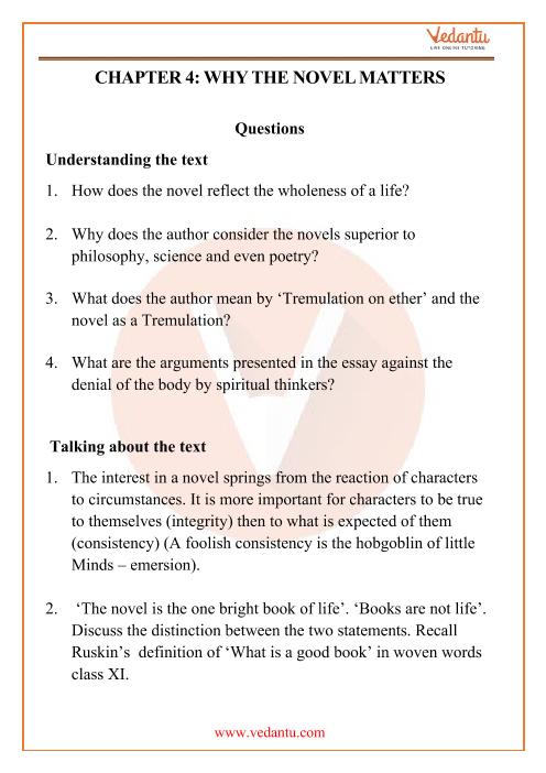 NCERT Solutions for Class 12 English Kaleidoscope Chapter 4 part-1