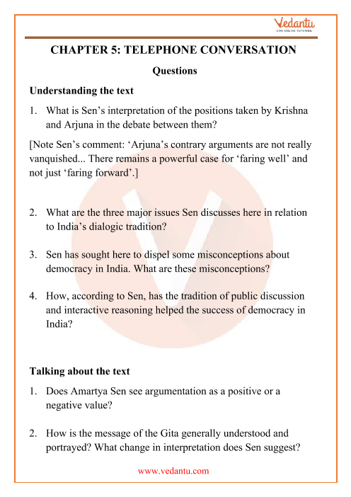 NCERT Solutions for Class 12 English Kaleidoscope Chapter 5 part-1