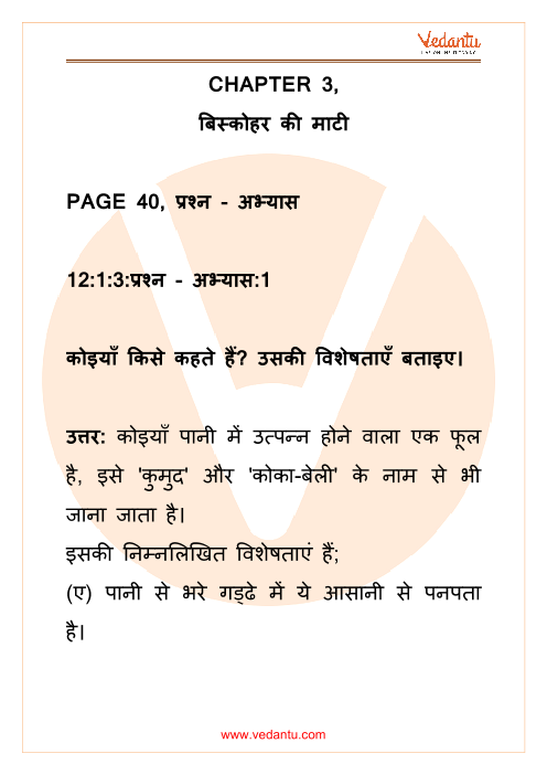 NCERT Solutions for Class 12 Hindi Antral Chapter 3 part-1