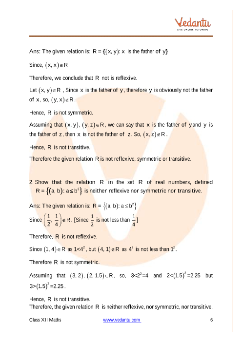 NCERT Solutions for Class 12 Maths Chapter 1 Relations and Functions part-2