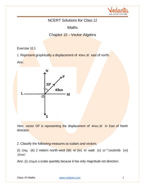 Chapter-10 - Vector Algebra part-1