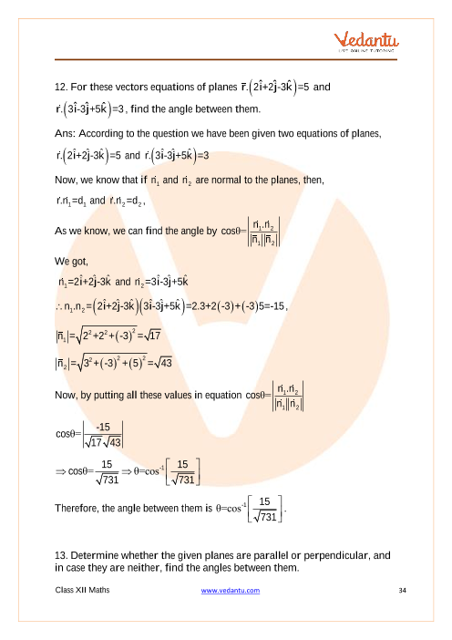 NCERT Solutions for Class 12 Maths Chapter 11 Three
