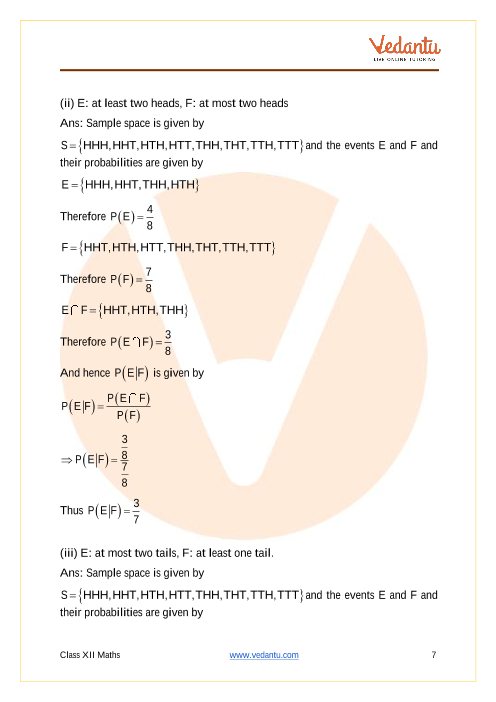 NCERT Solutions for Class 12 Maths Chapter 13 Probability