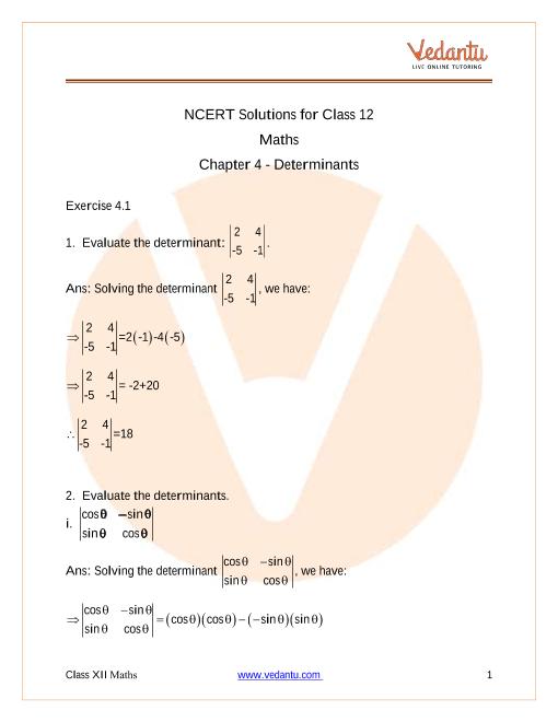Chapter-04 - Determinants part-1