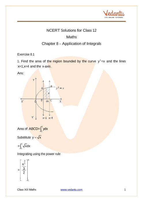 Chapter-08 - Application of Integrals (1) part-1