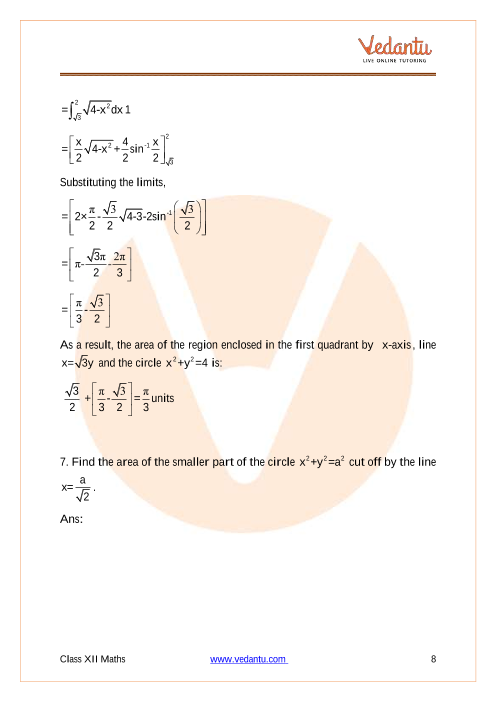 NCERT Solutions for Class 12 Maths Chapter 8 Application of