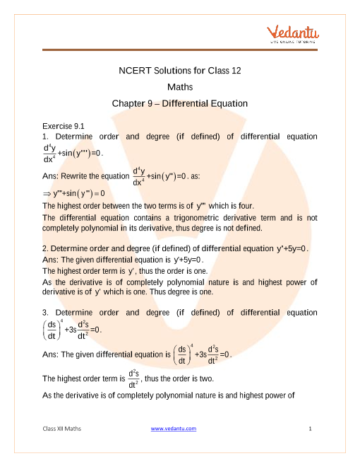 Chapter-09 - Differential Equations part-1