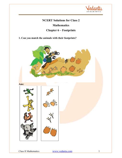 NCERT Solutions for Class 2 Maths Chapter 6 Footprints part-1