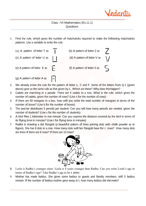 Maths Questions For Class 6 With Answers Pdf