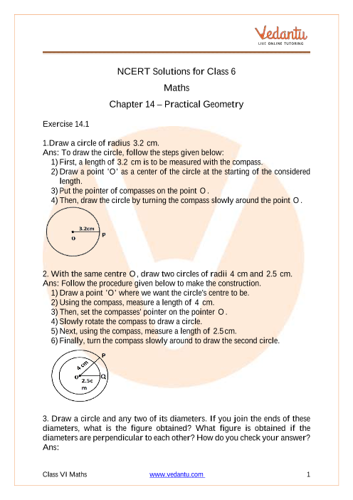 NCERT Solutions for Class 6 Maths Chapter 14 Practical