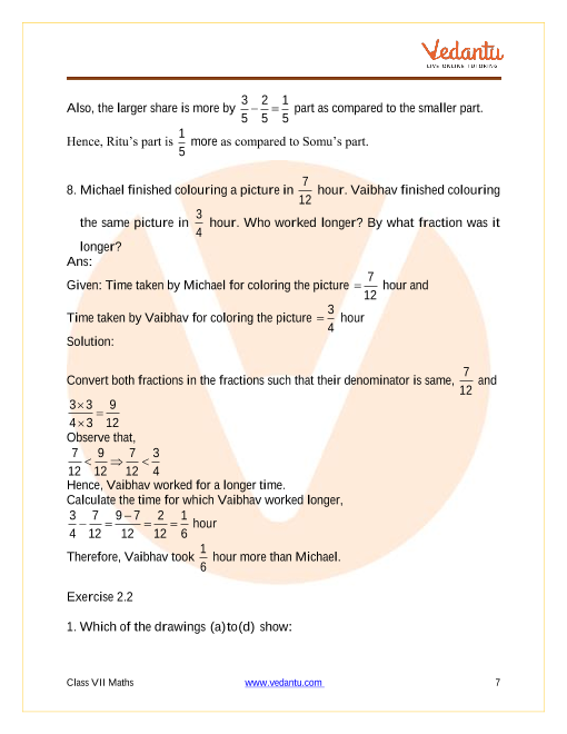 Ncert Solutions For Class 7 Maths Chapter 2 Fractions And Decimals Free Pdf Updated For 2020 21