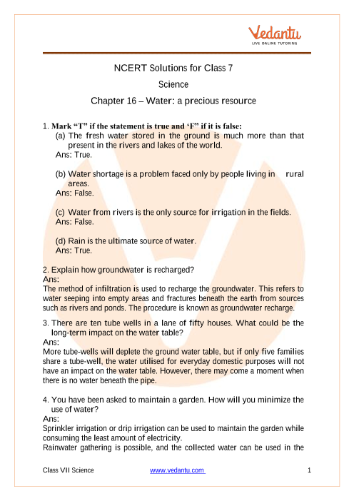 Water - A Precious Resource part-1