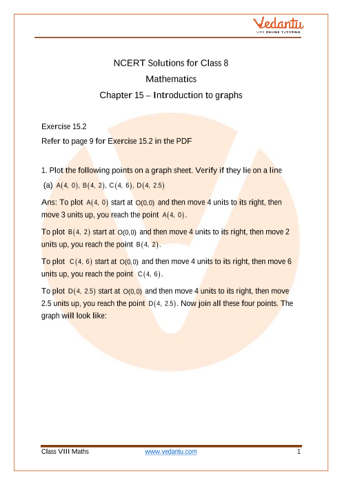 Access NCERT Solutions for Class 8 Chapter 15 – Introduction To Graphs part-1