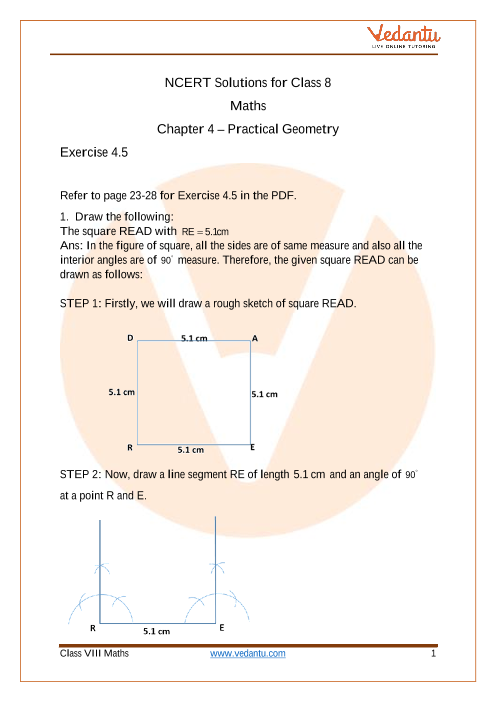 Access NCERT Solutions for Class 8 Chapter 4 – Practical Geometry part-1