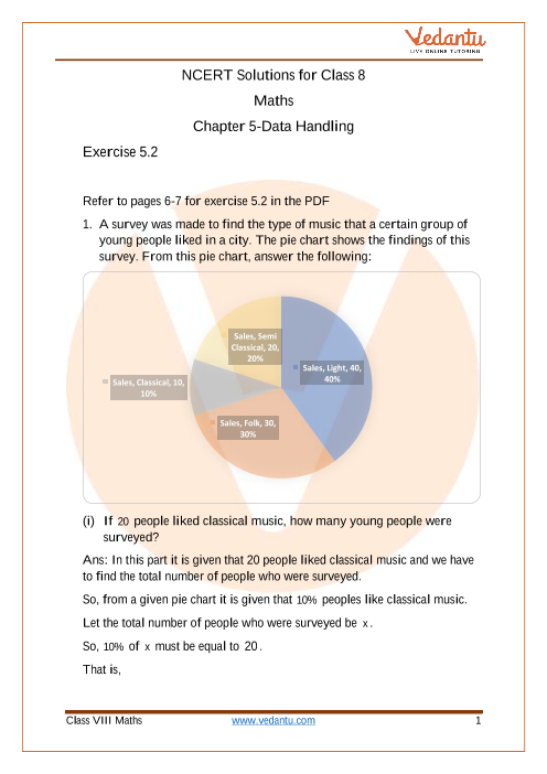 Access NCERT Solutions for Class 8 Chapter 5 - Data Handling part-1