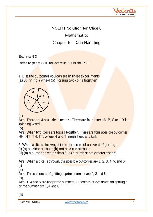 Access NCERT Solution for Class 8 MATHS Chapter 5 – Data Handling part-1
