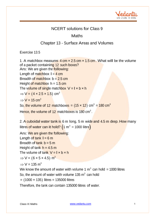 NCERT Solutions for Class 9 Maths Chapter 13 Exercise 13.5 part-1