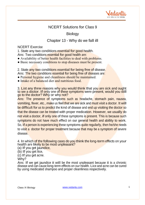 13. Why Do we Fall ill part-1
