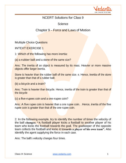 Copy of 9. Force and Law of Motions part-1