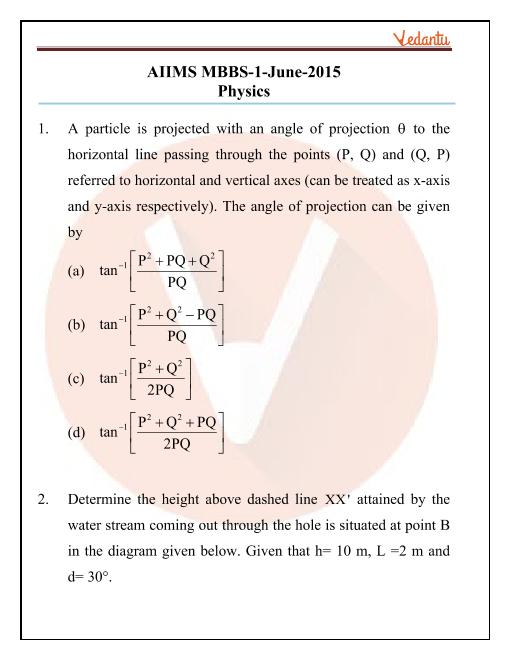 AIIMS 2015 Physics Question Paper part-1