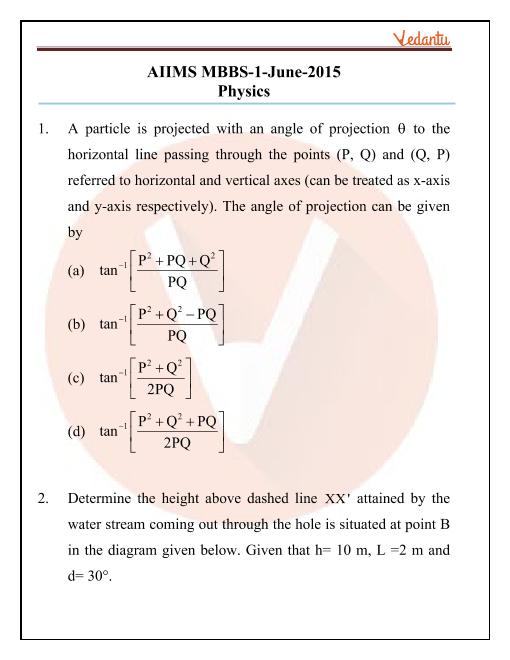 AIIMS 2015 Question Paper part-1