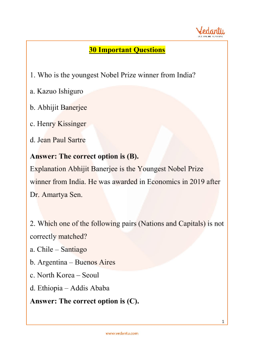 IGKO_Class 9_Important Questions part-1