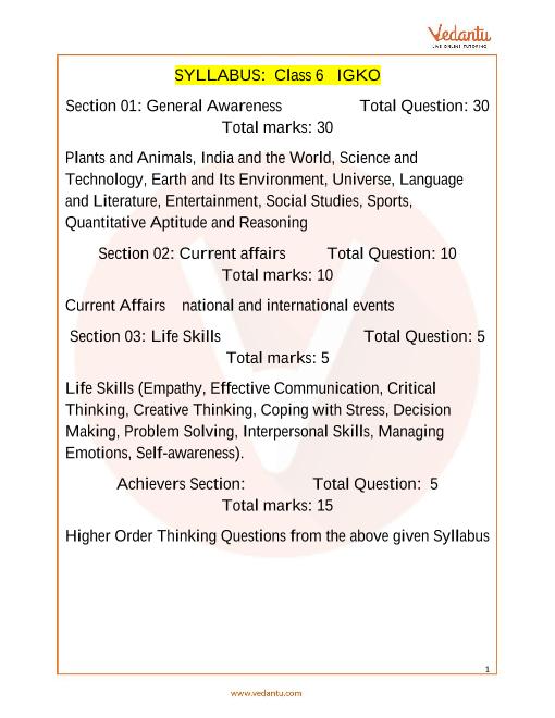 Syllabus_Class 6 part-1