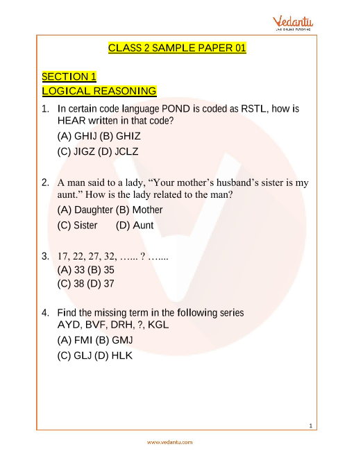 IMO_Class 2_Sample Paper_1 part-1