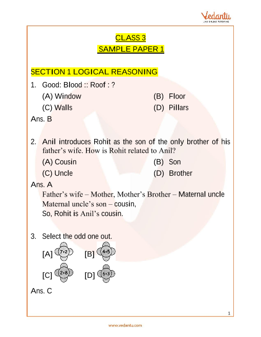 IMO_Class 3_Sample Paper_1 part-1