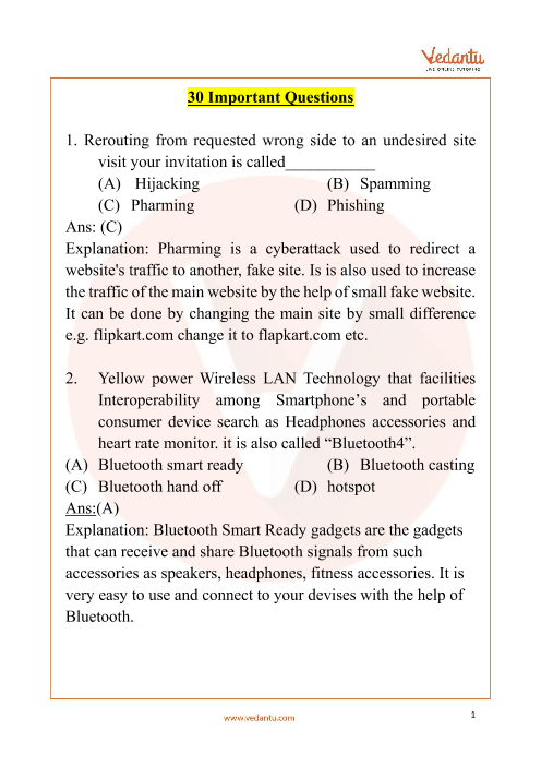 NCO_Class 9_Important Questions part-1
