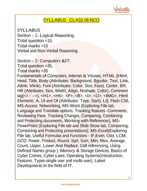 Syllabus_Class 8 part-1