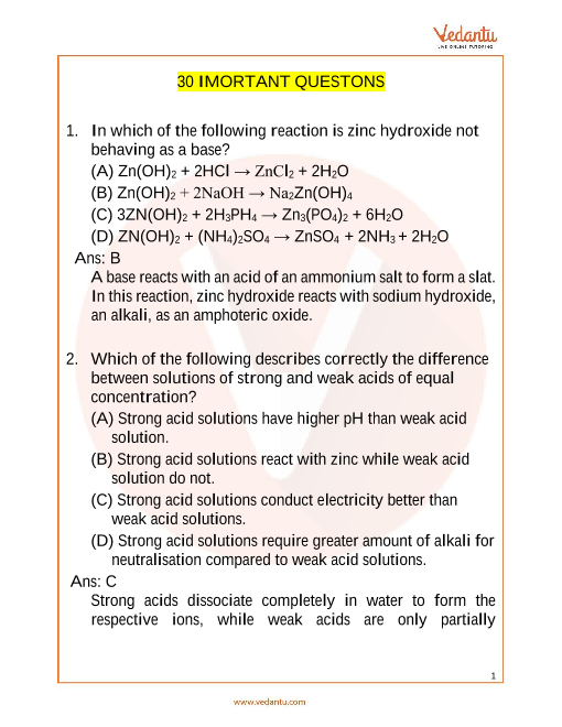 NSO_Class 10_Important Questions part-1
