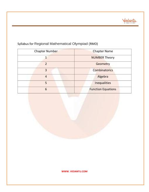 RMO Exam Syllabus PDF part-1