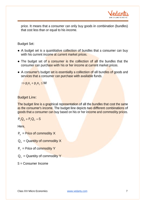 Cbse Class 12 Micro Economics Chapter 2 Theory Of Consumer