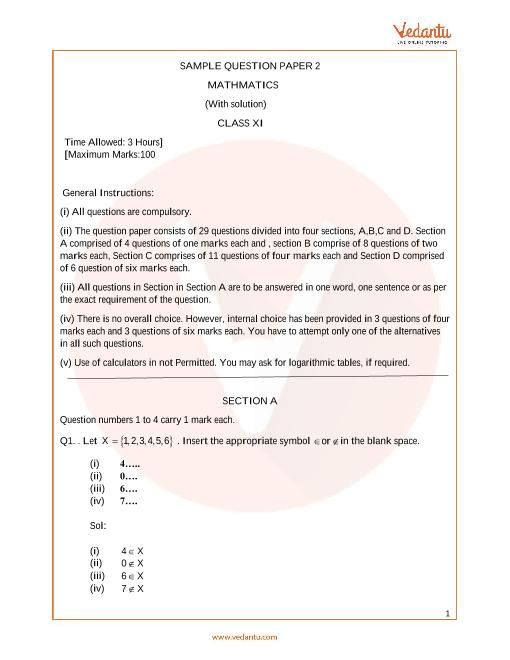 CBSE_Class 11_Maths_Sample paper_2 part-1