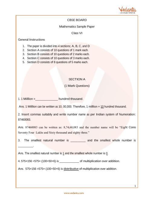 CBSE_Class 6_Maths_Sample paper_1 part-1
