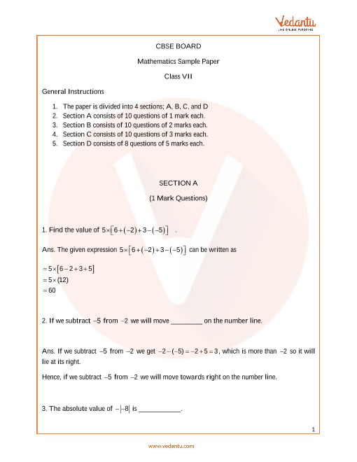 CBSE_Class 7_Maths_Sample paper_1 part-1