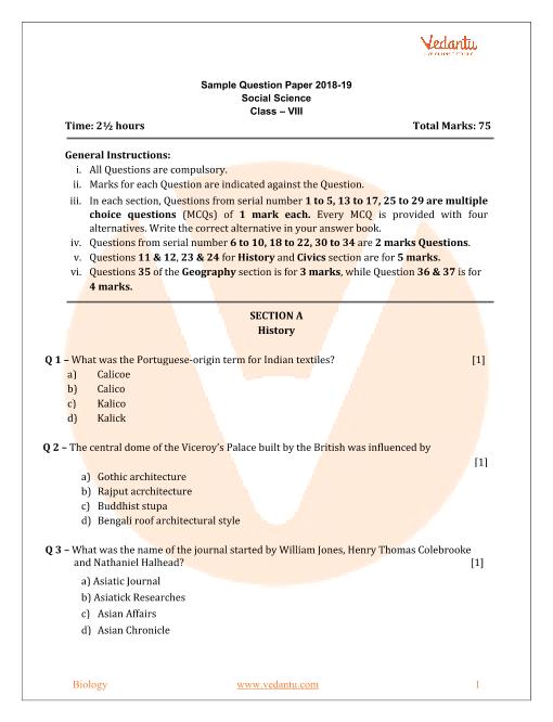 Cbse class 8 english sa1 sample paper download.