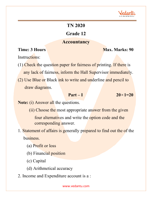 TN 12 2020 Accountancy part-1
