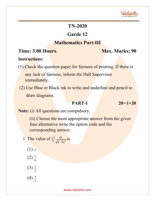 TN maths garde 12 part-1