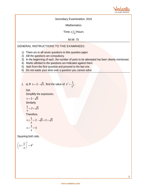 UP Board_Class 10_Maths_Year_2016 part-1