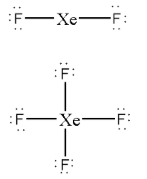 The Numbers Of Lone Pairs On Xe In Xef2 And Xef4 Are Class 11 Chemistry Cbse
