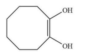 The reaction of cyclooctyne with HgSO4 in the presence ...